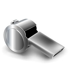 Metal whistle vector image