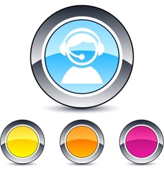 operator round button vector image vector image