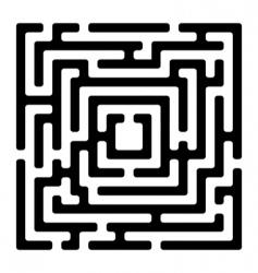 rectangle maze izolated on white vector image vector image