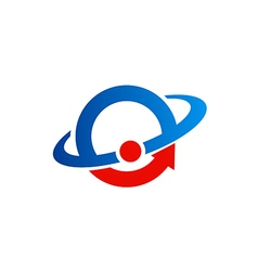 round orbit science logo vector image vector image