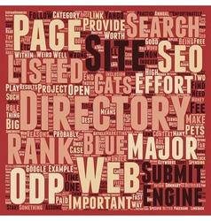 Seo best practice befriend the directories text vector