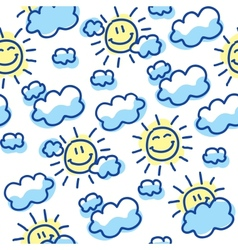 suns and clouds vector image vector image