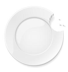 Abstract bitten plate vector image vector image