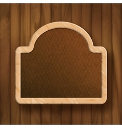 Board Frame on Wood Wall vector image