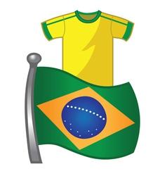 Brazil flag jersey vector image