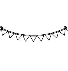 Celebration garlands party icon vector