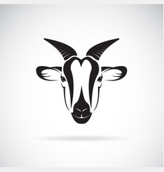goat head design on white background wild animals vector image vector image