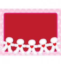paper dolls vector image vector image