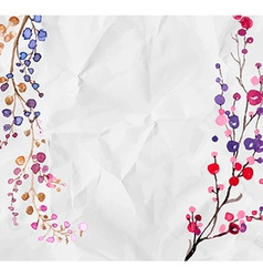 Watercolor flowers background vector image