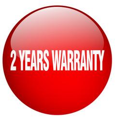 2 years warranty vector image
