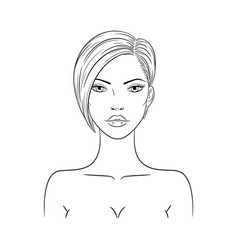 A beautiful fashion woman vector