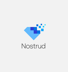 abstract pixel diamond logo icon design modern vector image