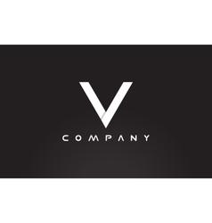 Alphabet letter V black white logo icon design vector image
