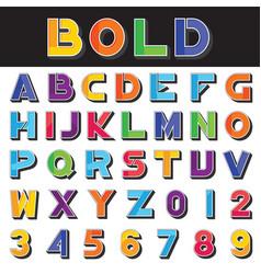 alphabet set 05 vector image