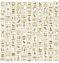 Ancient Egyptian Hieroglyphs Seamless vector