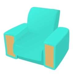 Arm chair icon cartoon style vector