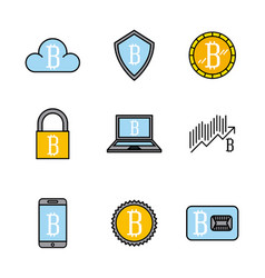 Bitcoin virtual coin design vector