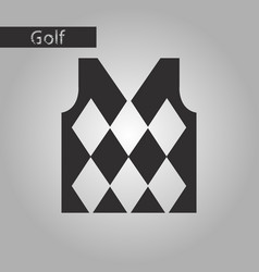 black and white style icon golf vest vector image