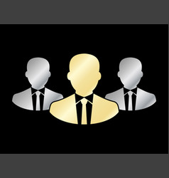 Businessman team icon silhouette icon isolated vector