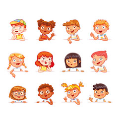 children holding empty white board vector image