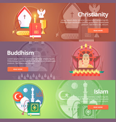 Christianity buddhism religion buddhistic vector