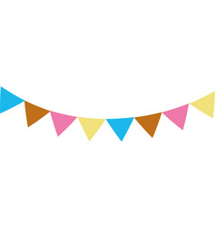 colorful party flags decoration to celebration vector image