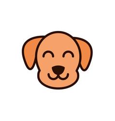 Cute face dog animal cartoon icon vector