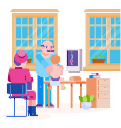 Doctor pediatrician osteopath and child vector