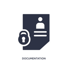 Documentation icon on white background simple vector