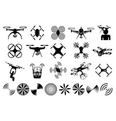 Drones and quadcopters vector