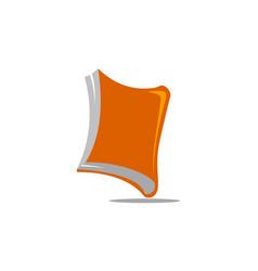dynamic book logo design template vector image