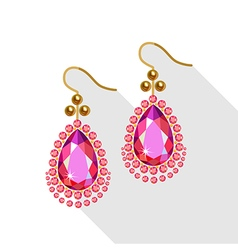 Earrings set vector