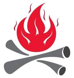 fire symbol vector image vector image
