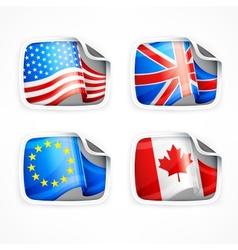 Flag labels vector image