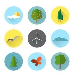 Flat landscape elements vector image