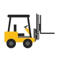 Forklift machine lifting icon vector