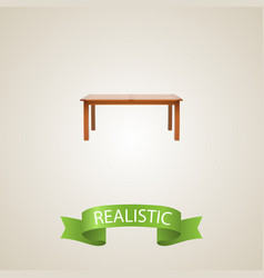 Furniture realistic element vector