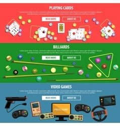 Games Banners Set vector image