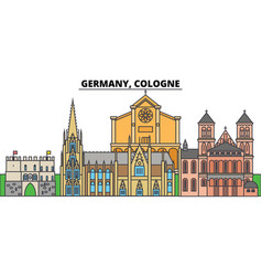 germany cologne city skyline architecture vector image