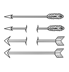 Graphic simple arrows vector