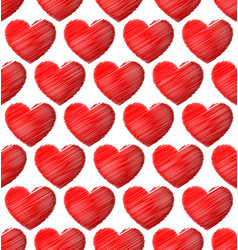 graphics with red heart eps 10 vector image