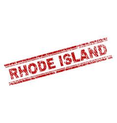 grunge textured rhode island stamp seal vector image