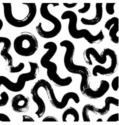 Hand drawn circular lines seamless pattern vector