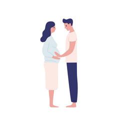 happy future parents hugging flat vector image