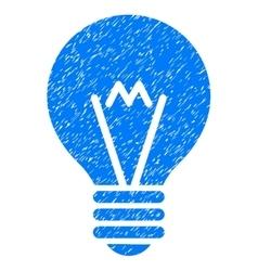 Hint bulb grainy texture icon vector