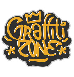 hip hop related tag graffiti influenced label sign vector image