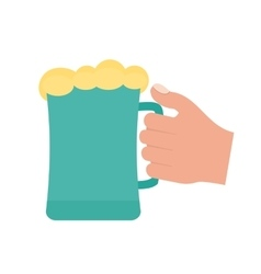 Holding Beer Glass vector image