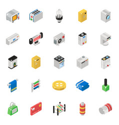 Home appliance isometric pack vector