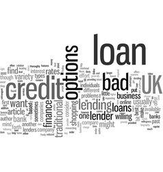 How to find a bad credit loan uk vector
