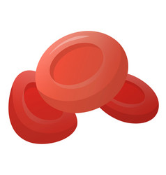 Human red blood cells flat vector